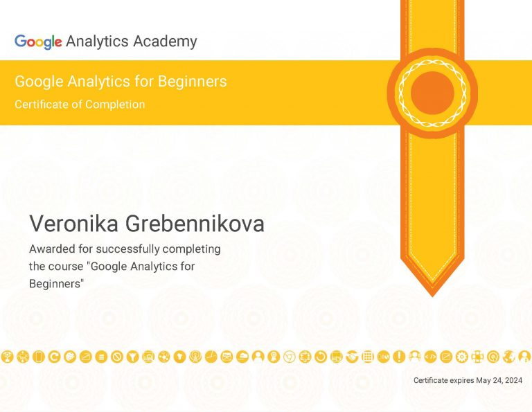 Google Analytics Course Certificate