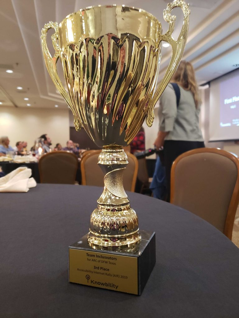 Knowbility 2019 3rd place