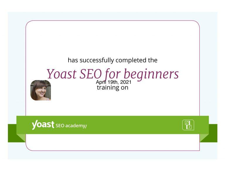 SEO training certificate